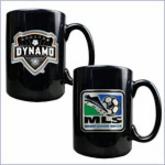 Primary Team Logo & MLS Logo Black Ceramic Mug Set