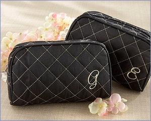 Quilted Monogram Cosmetic Bag