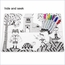 Reusable Activity Placemats & Marker Set