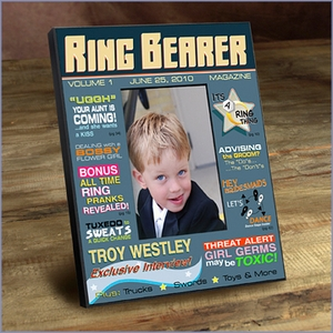 Ring Bearer Personalized Magazine Frame