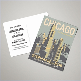 Save The Date Postcards - Chicago (Set of 100)