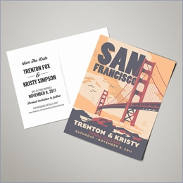 Save The Date Postcards - San Francisco (Set of 100)