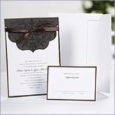 Scalloped Top Wrap DIY Wedding Invitation Kit (25)