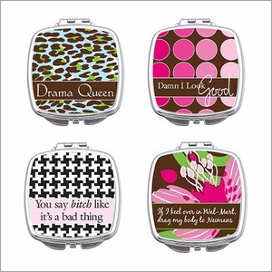 Sentiments Purse Compact Mirror