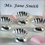 Silver Clam Shell Place Card Holders