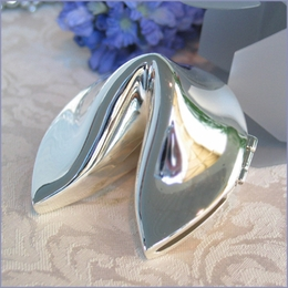Silver Fortune Cookie Favor