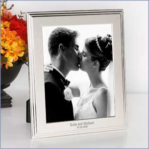 Silver Keepsake Frame with Border