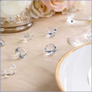 Small Diamond Shaped Wedding Table Decoration Jewels - Set of 9