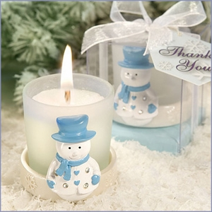 Snowman Candle Wedding Favors