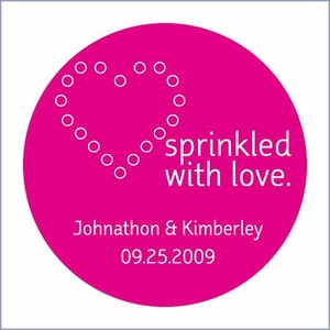 Sprinkled with Love Personalized Stickers