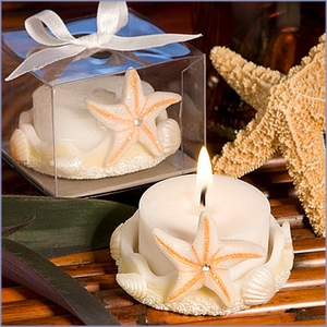 Starfish Design Favor Saver Candles Wedding Favors