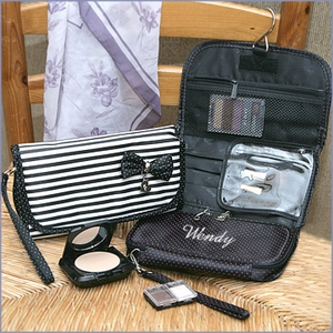 Stripe Hanging Make-up Bag