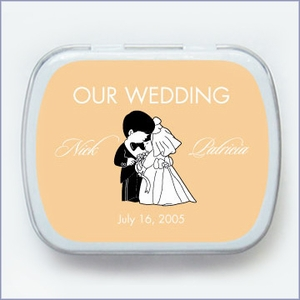 Sweet Couple Wedding Mint Tin Favors