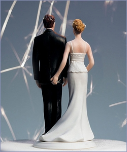 The Love Pinch Bridal Couple Wedding Cake Topper