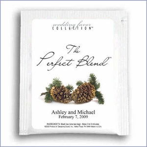 The Perfect Blend Tea Wedding Favor - Two Pine Cones
