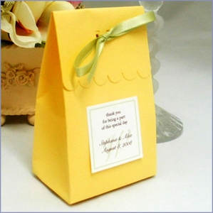 The Scallop Train Sak Favor Box Kit - Set of 20