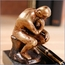 The Thinker Desk Pen Holder