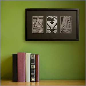 Three-Letter Personalized Architectural Name Frame