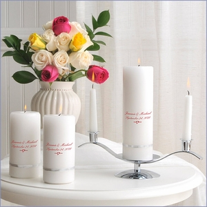 Traditional Deluxe Personalize Unity Candle Set