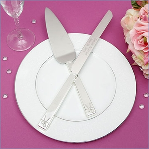 Vera Wang Love Knots Wedding Cake Knife & Server Set