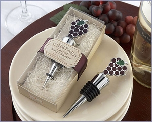 Vineyard Select Enamel and Chrome Bottle Stopper Wedding Favors