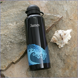 Wave Stainless Steel Water Bottle