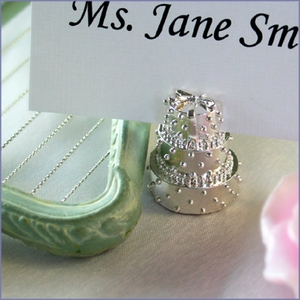 Wedding Cake Place Card Holder Favor (12)