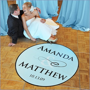Wedding Dance Floor Custom Decal - Flourish (50)
