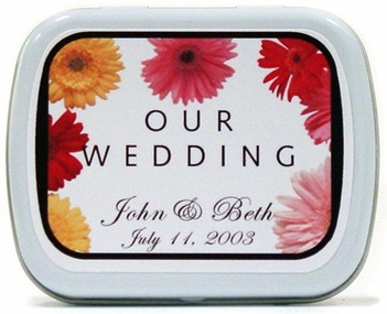 Wedding Favor Mint Tins