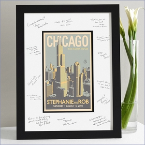 Wedding Guest Book Frame - Chicago