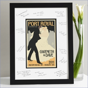 Wedding Guest Signature Frame - Down The Aisle