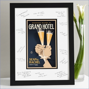 Wedding Guest Signature Frame - First Toast