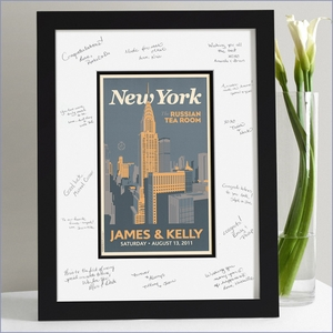 Wedding Guest Signature Frame - New York