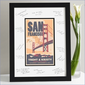 Wedding Guest Signature Frame - San Francisco