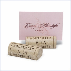 Wine Cork Wedding Place Card Holders  - Set of 4