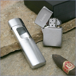 Zippo Lighter and Portable Ash Tray set