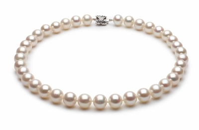 10.5 x 11.5mm White High Grade Freshwater Pearl Necklace