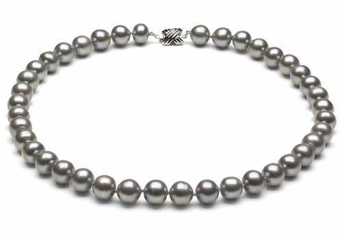 9mm to 10mm Grey Freshwater Pearl Necklace