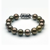 10 to 11mm Tahitian Pearl Bracelet Multicolor