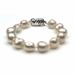 10 x 12mm South Sea Pearl Bracelet Baroque
