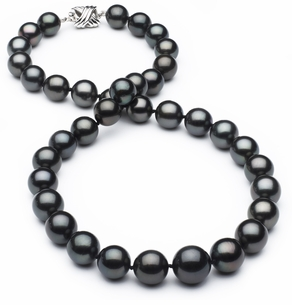 10mm x 13mm TRUE AAA Tahitian Pearl Necklace