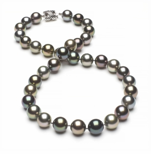 Tahitian Pearl Necklace Serial Number   10mm10-5mm-tahitian-south-sea-multi-color-pearl-necklace-aaa-16inch-s4-xr07685m-b50