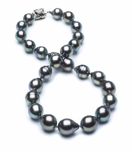11mm-13mm-tahitian-pearl-necklace-baroque-south-sea-true-aaa-16inch-s3-clabc-Peacock Color-b33