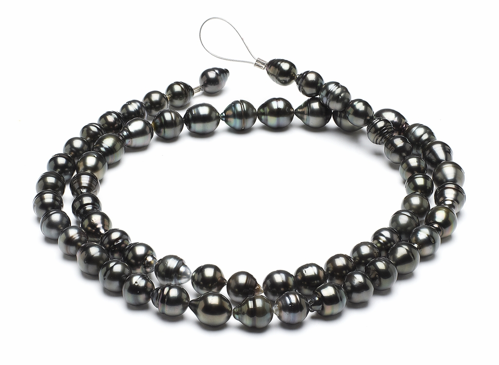 32 Inch - 10mm x 12mm Tahitian Baroque Cultured Pearl Necklace TRUE AAA
