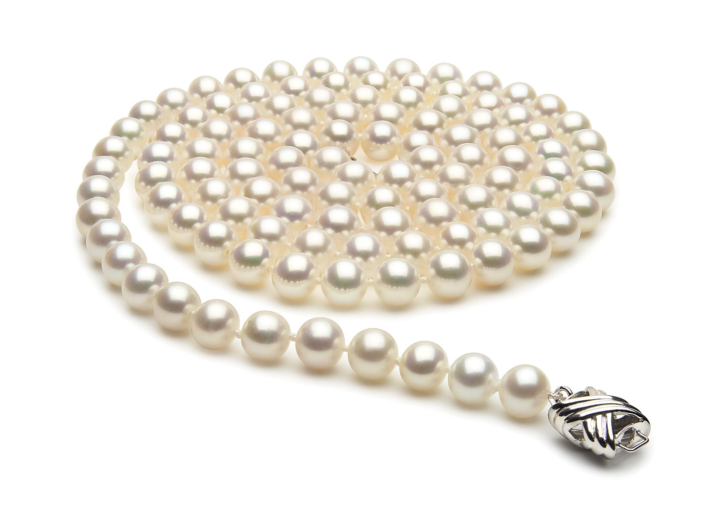 36 Inch 7.5mm x 8mm Freshwater Cultured Pearl Necklace