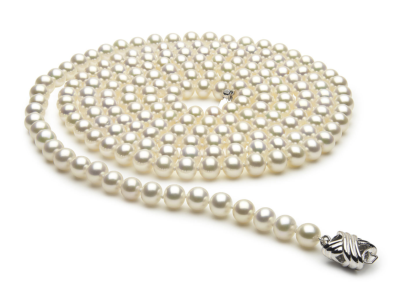 54 Inch 6.5mm x 7mm Freshwater Cultured Pearl Necklace