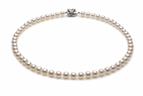 6.5 x 7mm White High Grade Freshwater Pearl Necklace