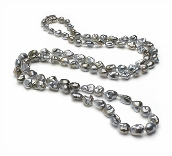 33 Inch Opera 7.2mm x 9.1mm Tahitian Pearl Keshi South Sea Cultured Pearl Necklace