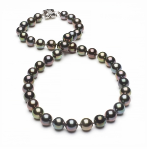 Tahitian Pearl Necklace Serial Number   8-1mm8-9mm-tahitian-south-sea-multi-color-pearl-necklace-aaa-16inch-s4-xr06847m-b47