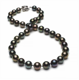 Tahitian Pearl Necklace Serial Number   8-1mm9-9mm-tahitian-south-sea-multi-color-pearl-necklace-aaa-16inch-s4-xr07685m-b49